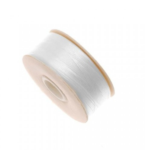 WHITE Nymo Beading Thread Bobbin Size B (ø 0.20mm) 66m long