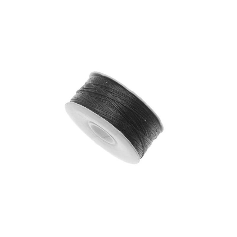BLACK Nymo Beading Thread Bobbin Size B (ø 0.20mm) 66m long
