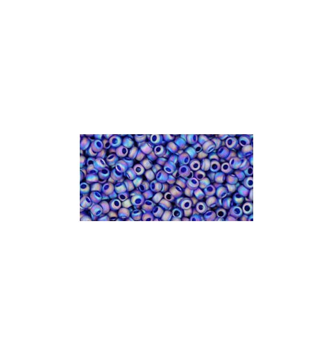 TR-11-87DF TRANS-RAINBOW-FROSTED COBALT TOHO SEED BEADS