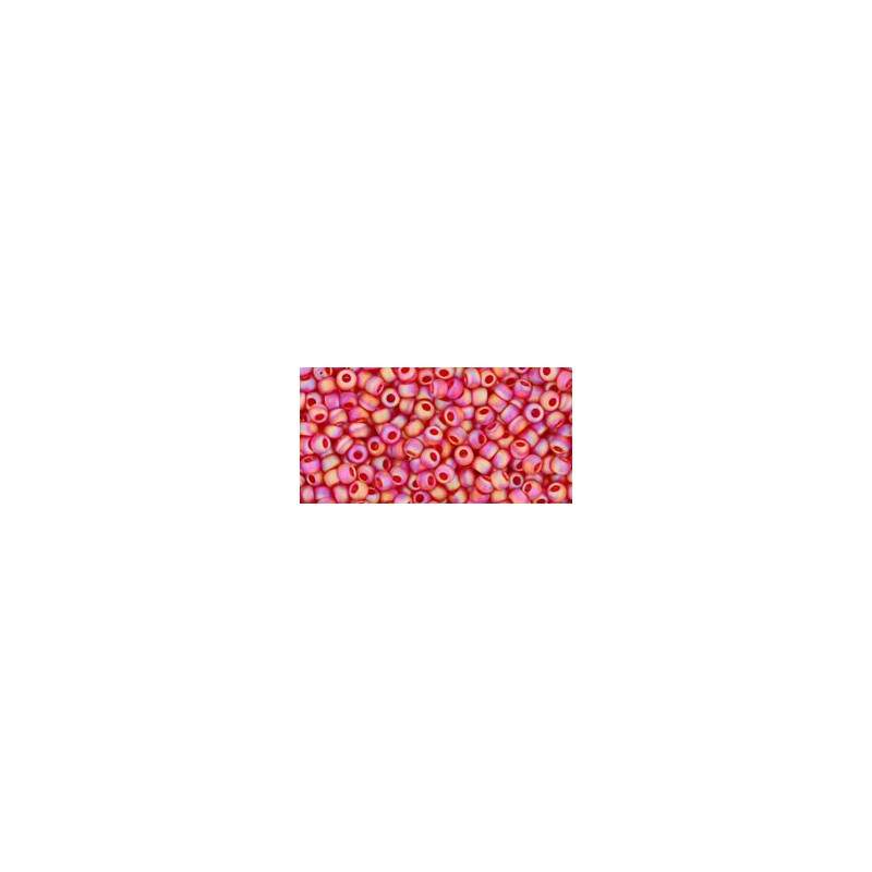 TR-11-165BF TRANS-RAINBOW-FROSTED SIAM RUBY TOHO SEED BEADS