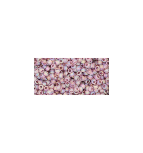 TR-11-166F TRANS-RAINBOW-FROSTED LT AMETHYST TOHO SEED BEADS