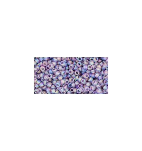 TR-11-166DF TRANS-RAINBOW-FROSTED LT TANZANITE TOHO SEED BEADS
