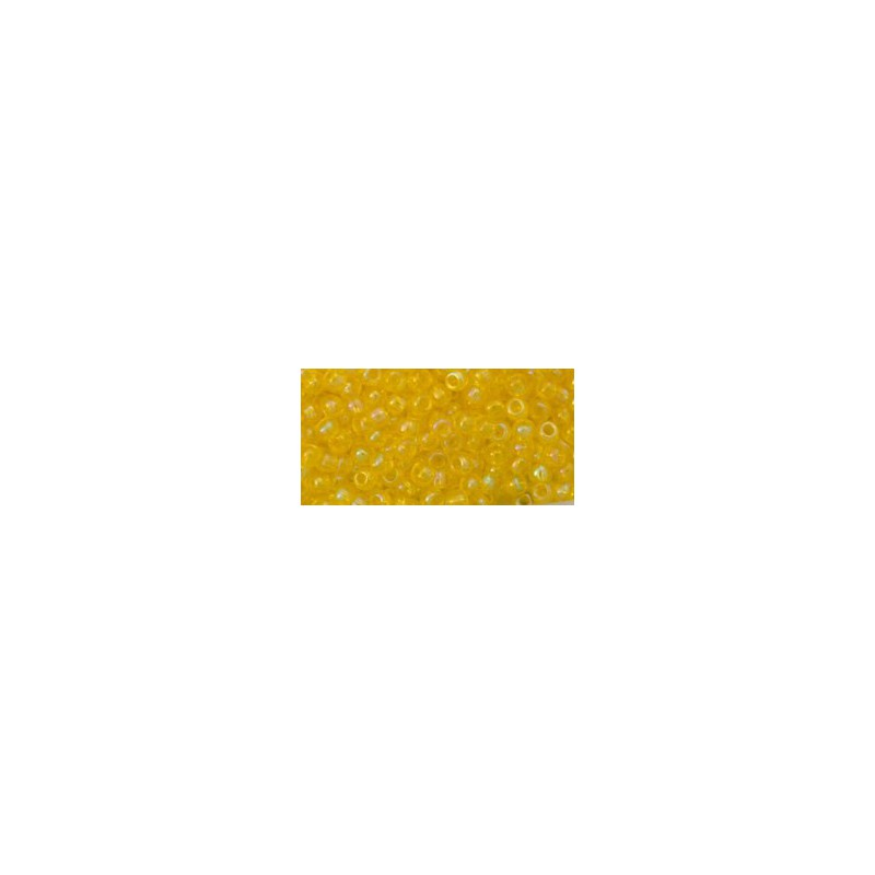 TR-11-175 TRANS-RAINBOW LEMON TOHO SEED BEADS
