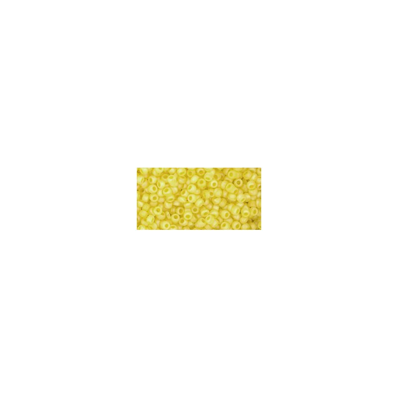 TR-11-175F TRANS-RAINBOW-FROSTED LEMON TOHO SEED BEADS