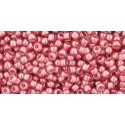 TR-11-291 TRANS-LUSTERED ROSE/MAUVE LINED TOHO SEED BEADS