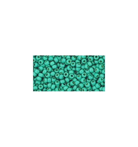 TR-11-PF561F PERMANENT FINISH - MATTE GALVANIZED GREEN TEAL TOHO SEED BEADS