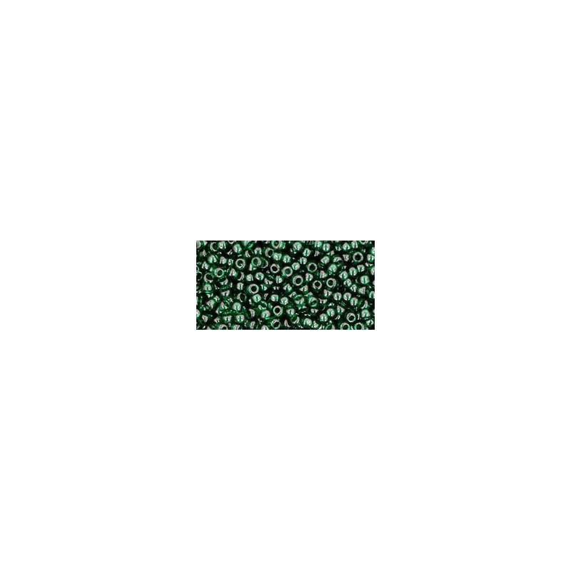 TR-11-939 TRANSPARENT GREEN EMERALD TOHO SEED BEADS