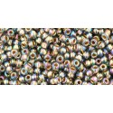 TR-11-999 GOLD-LINED RAINBOW BLACK DIAMOND TOHO SEED BEADS