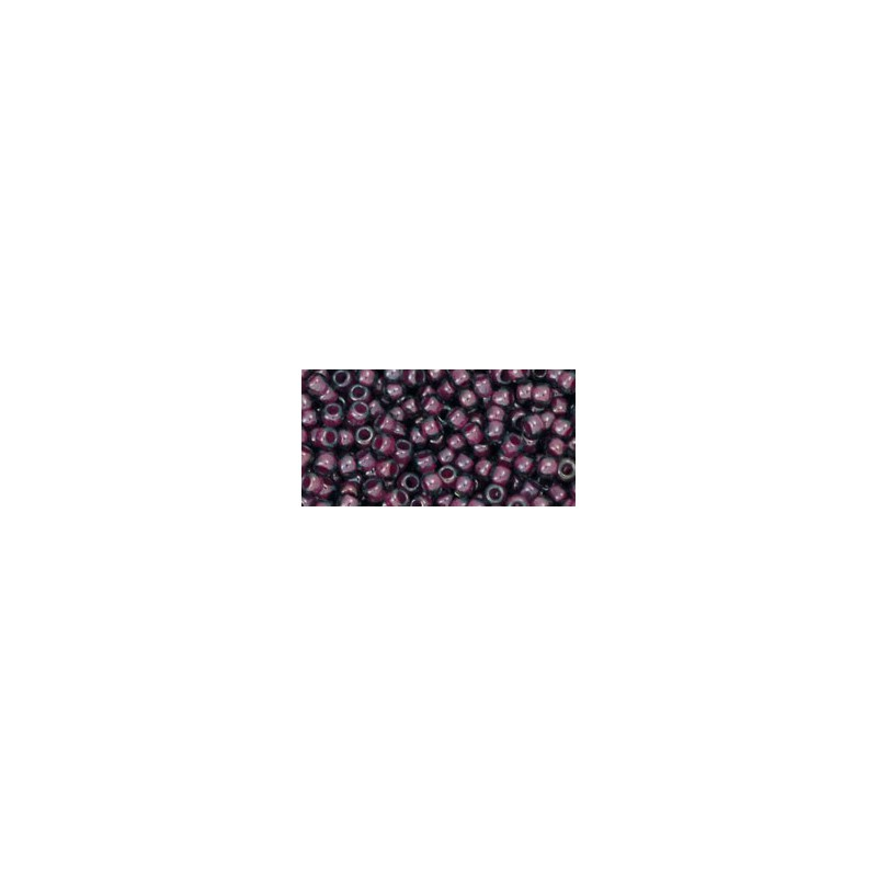 TR-11-1076 INSIDE COLOR GREY/MAGENTA DIAMOND TOHO SEED BEADS