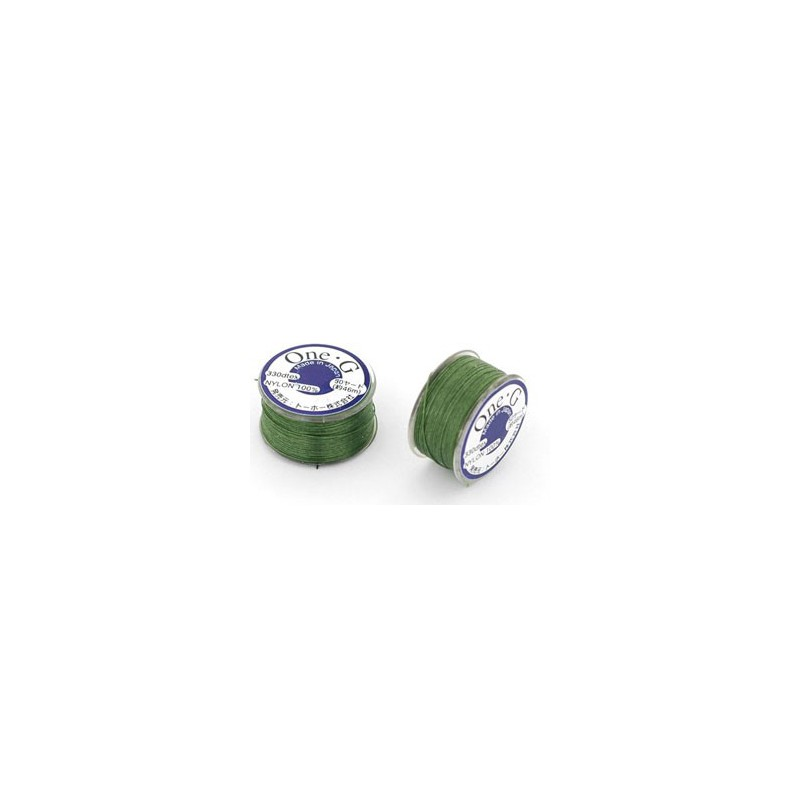 GREEN TOHO One-G Beading Thread 330dTex Bobbin 46m (50yd) long