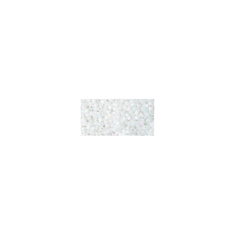 TT-01-401 OPAQUE-RAINBOW WHITE TOHO Treasures 12/0