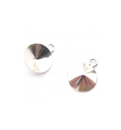 Metall kõrvarõnga toorik rõngaga hõbe värvi rivolile 1122 12mm ca. 12x15mm