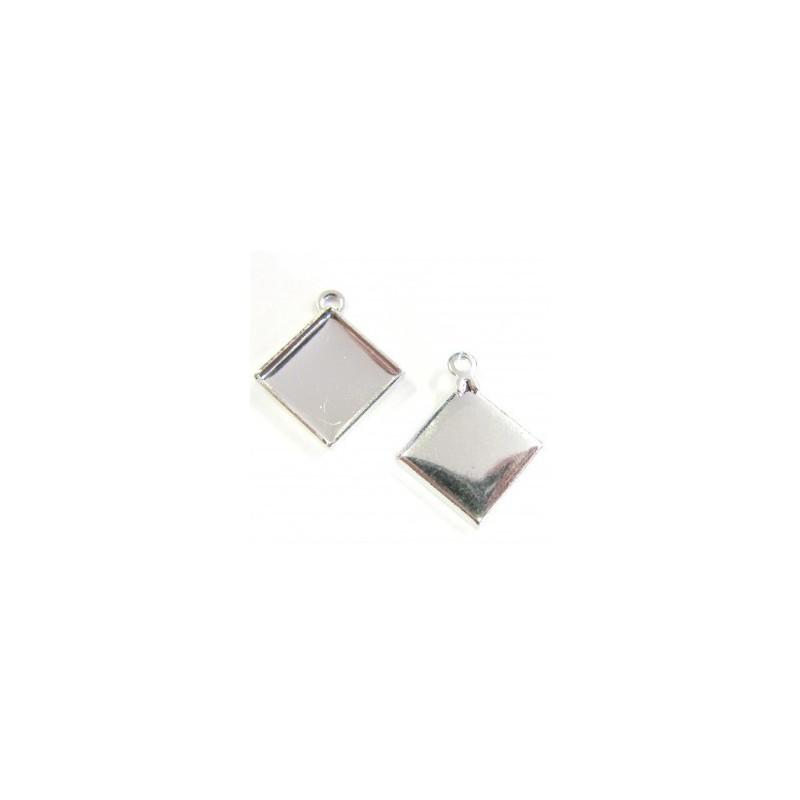 Металлическая основа для Подвески с кольцом серебрянного цвета для chessboard 2493 12мм прибл. 17x20mm