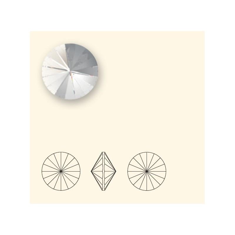 14MM CRYSTAL Silver Shade F (001 SSHA) 1122 Rivoli Chaton SWAROVSKI ELEMENTS
