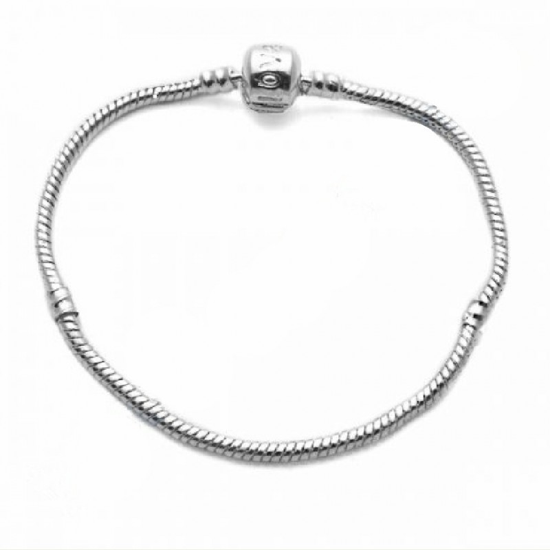 PANDORA style snake bracelet chain 3MM/195MM silver plated