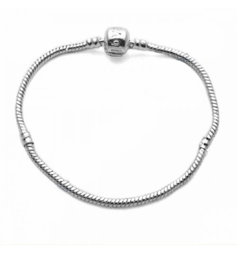 PANDORA style snake bracelet chain 3MM/215MM platinum plated