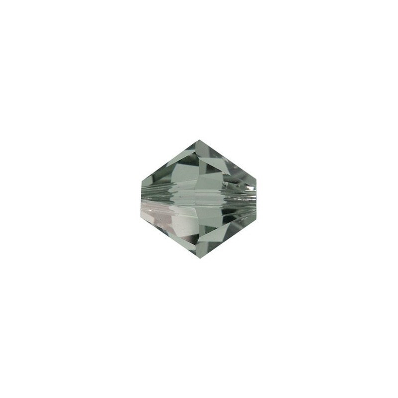 3MM Black Diamond (215) 5328 XILION Bi-Cone Helmed SWAROVSKI ELEMENTS