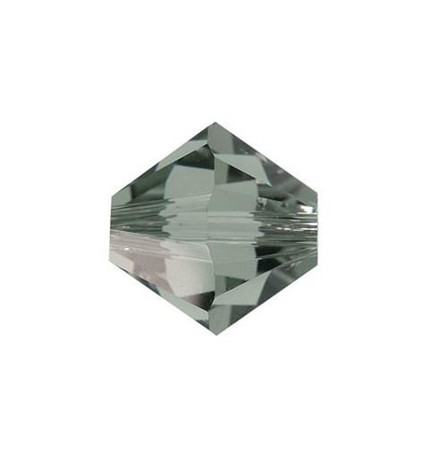 3MM Black Diamond (215) 5328 XILION Bi-Cone Beads SWAROVSKI ELEMENTS