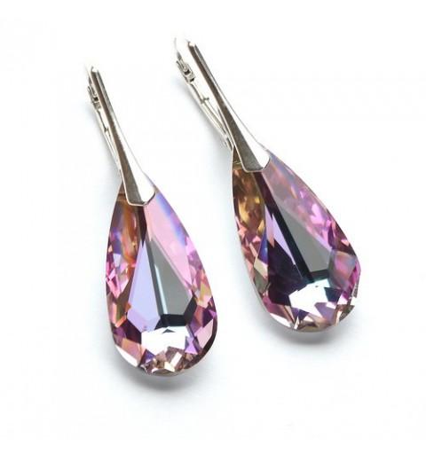 Sterling Hõbe Kõrvarõngad Ehtse Swarovski kristallidega Vitrail Light