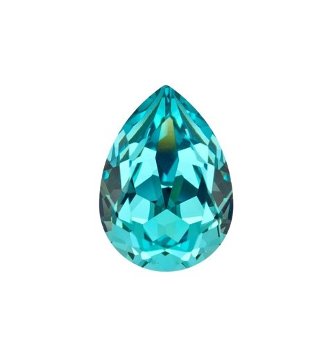 14x10mm Light Turquoise F (263) Pear-Shaped Fancy Stone 4320 Swarovski Elements