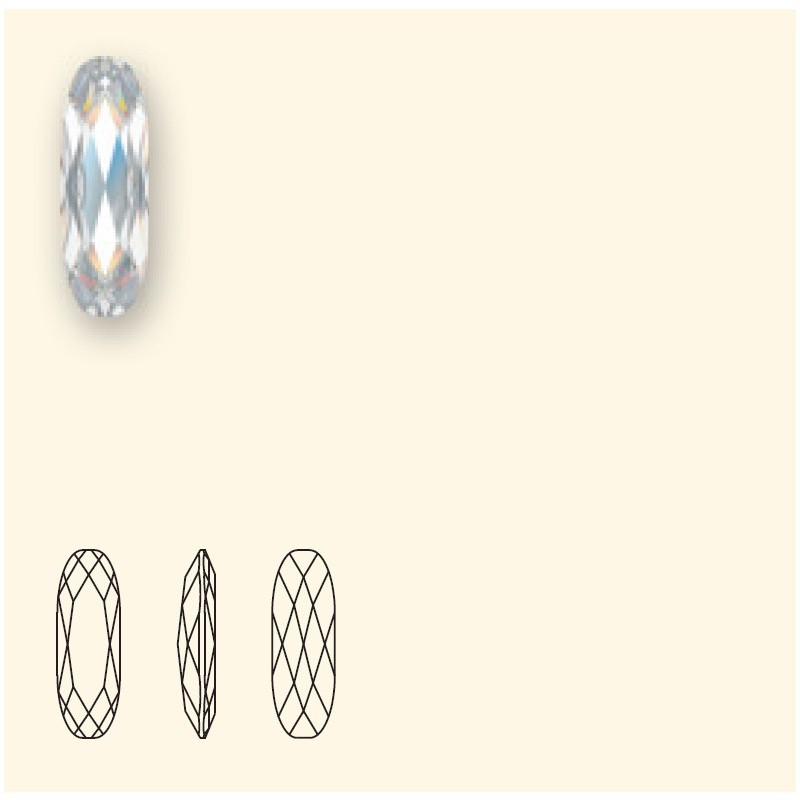 27x9mm Indicolite F (379) Long Classical Oval Fancy Stone 4161 Swarovski Elements