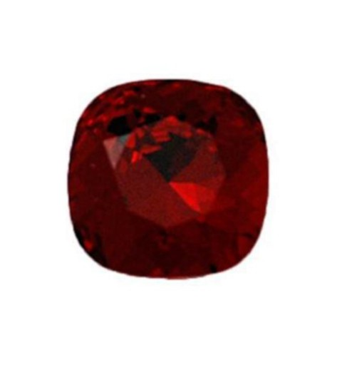 8mm 4470 Siam F (208) Cushion Square Fancy Stone Swarovski Elements