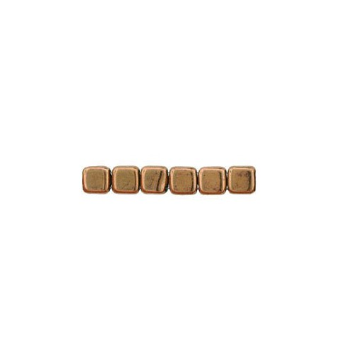 6mm Bronze CzechMates Tile beads