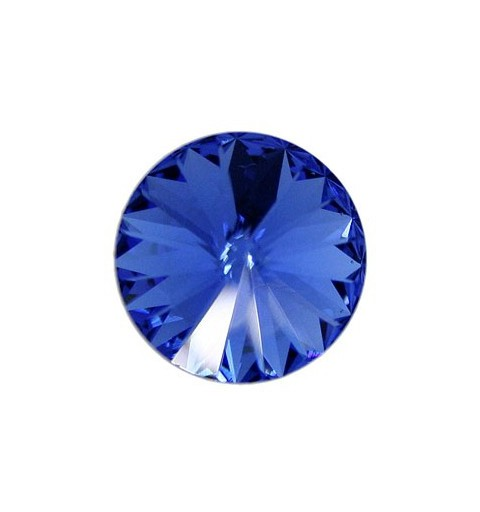 12MM Sapphire F (206) 1122 Rivoli Chaton SWAROVSKI ELEMENTS