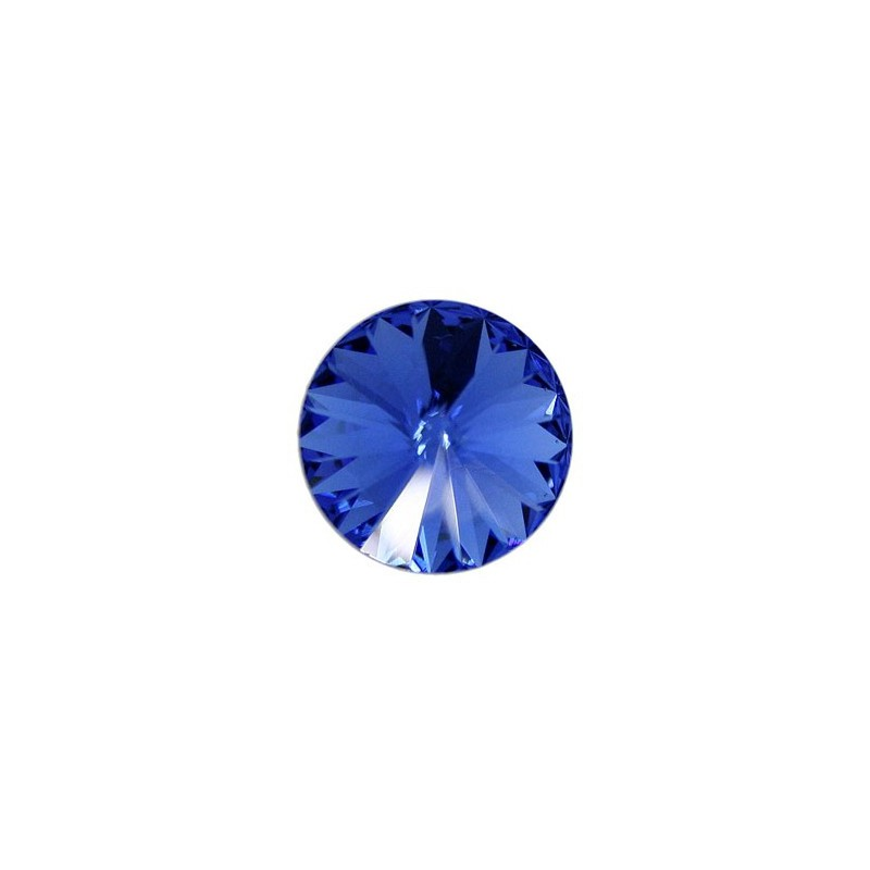 14MM Sapphire F (206) 1122 Rivoli Chaton SWAROVSKI ELEMENTS