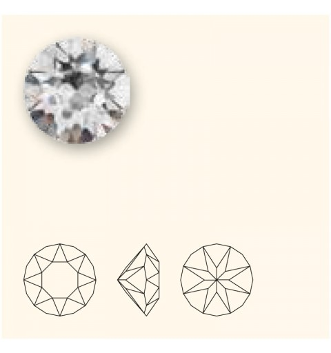 SS39 (~8.25mm) Crystal F (001) 1088 XIRIUS Chaton SWAROVSKI ELEMENTS