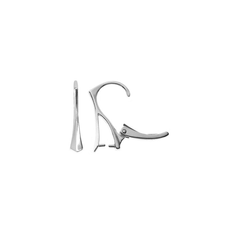 STERLING SILVER 925 PENDANT HOOK EAR WIRES SE 19x12MM FOR SWAROVSKI