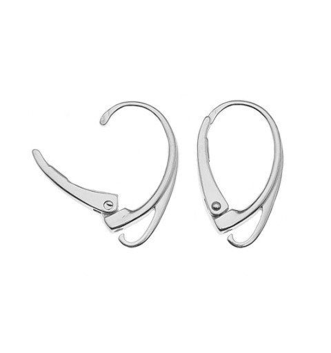 STERLING SILVER 925 FINDING LEVERBACK EARRING HOOK WIRE 17.8X10.3MM