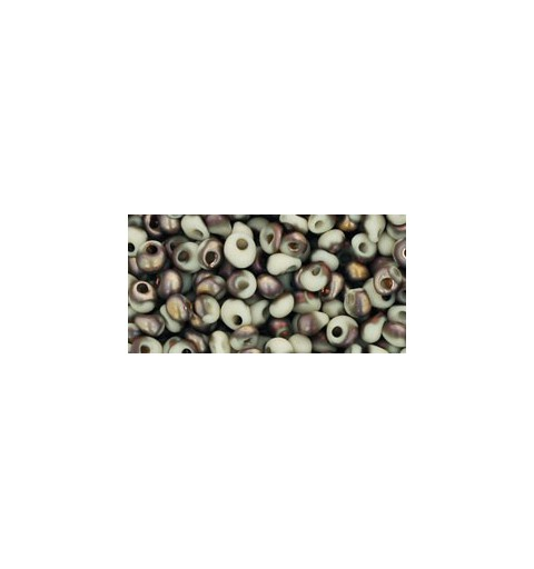TM-03-Y856F HYBRID FROSTED LT BEIGE APOLLO MAGATAMA 3MM TOHO beads