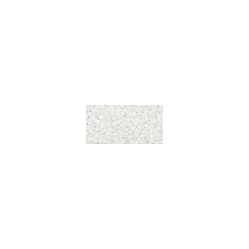 TR-15-121 OPAQUE-LUSTERED WHITE TOHO SEED BEADS