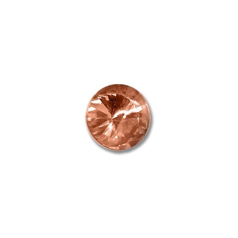 14MM Crystal Apricot F (00030 Apri) Rivoli Czech Preciosa Stone
