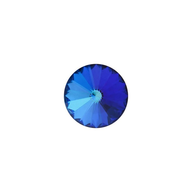 12MM Crystal Bermuda Blue F (00030 BBl) Rivoli Czech Preciosa Stone