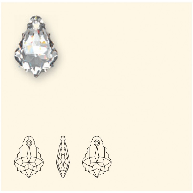 16x11MM Crystal Vitrail Light F (001 VL) Baroque Pendants 6090 SWAROVSKI ELEMENTS