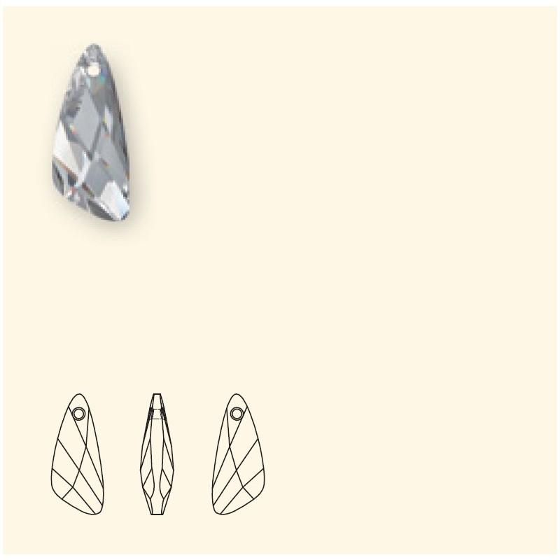 23mm Crystal AB (001 AB) Wing Pendants 6690 SWAROVSKI ELEMENTS