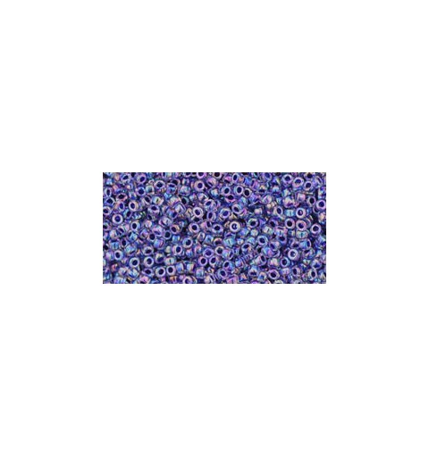 TR-15-181 INSIDE-COLOR RAINBOW BLACK DIAMOND TOHO SEED BEADS