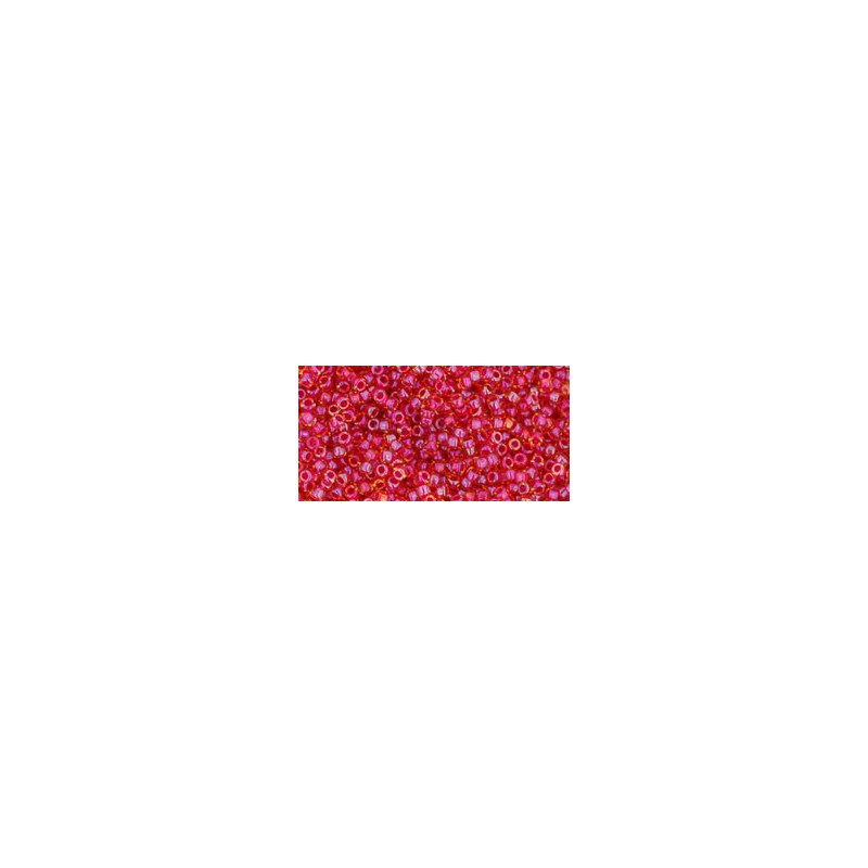 TR-15-241 INSIDE-COLOR CRYSTAL/GOLD LINED TOHO SEED BEADS