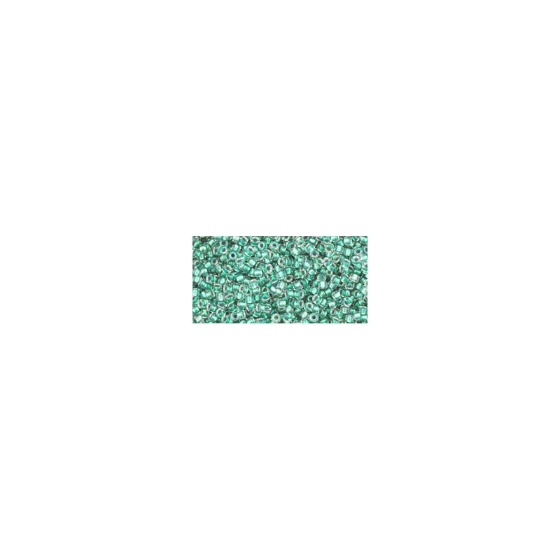 TR-15-264 INSIDE-COLOR RAINBOW CRYSTAL/TEAL LINED TOHO SEED BEADS