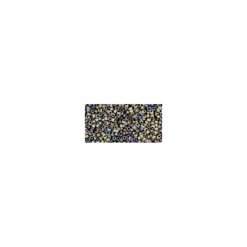 TR-15-614 MATTE-COLOR IRIS BROWN TOHO SEED BEADS