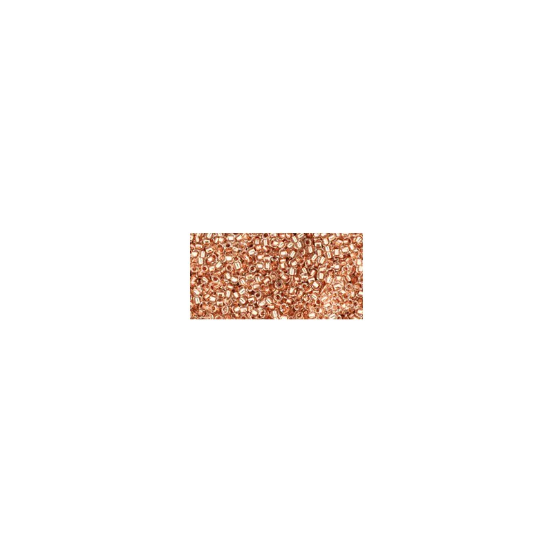 TR-15-740 COPPER-LINED CRYSTAL TOHO SEED BEADS