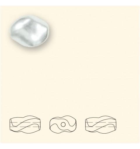 9x8MM Valge Crystal Curved Pärl (001 650) 5826 SWAROVSKI ELEMENTS