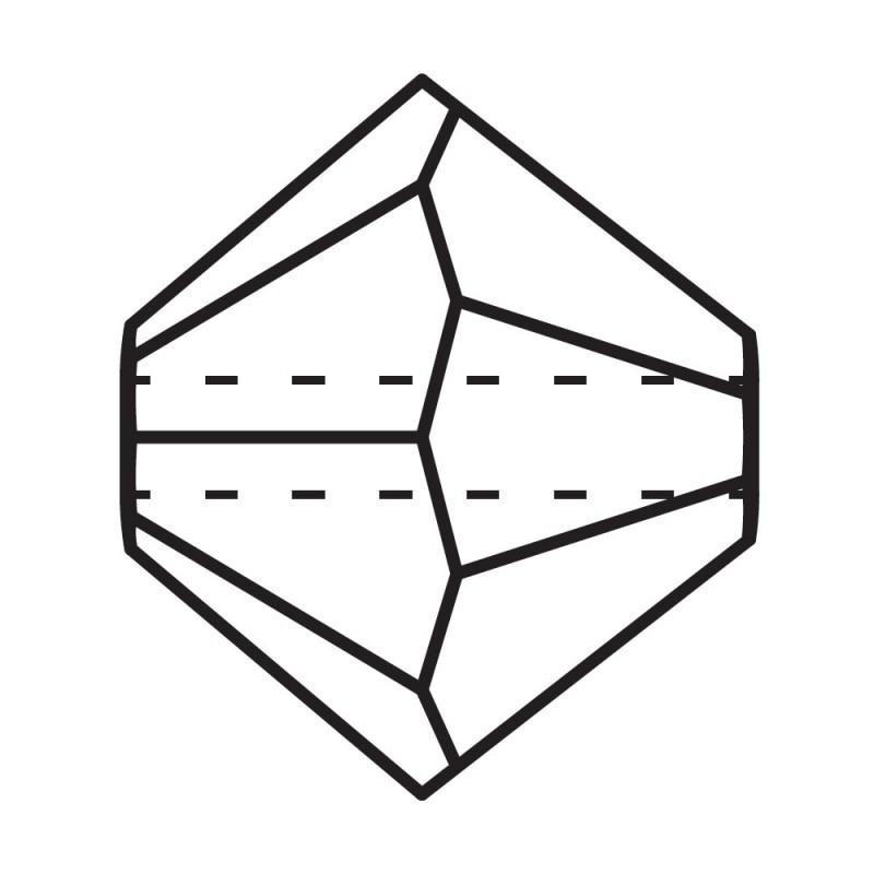 3MM Crystal AB Bi-Cone Rondell Preciosa helmes