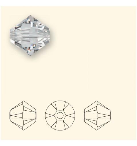 4MM Light Rose (223) 5328 XILION Bi-Cone Helmes SWAROVSKI ELEMENTS