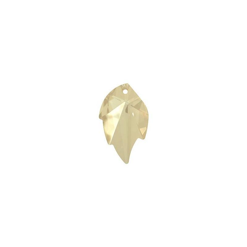 26X16MM Crystal Golden Shadow (001 GSHA) Pendants Leaf 6735 SWAROVSKI ELEMENTS