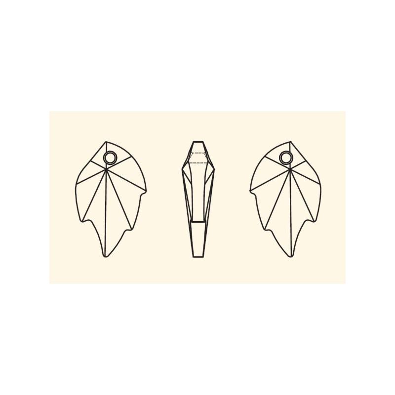 26X16MM Peridot (214) Pendants Leaf 6735 SWAROVSKI ELEMENTS