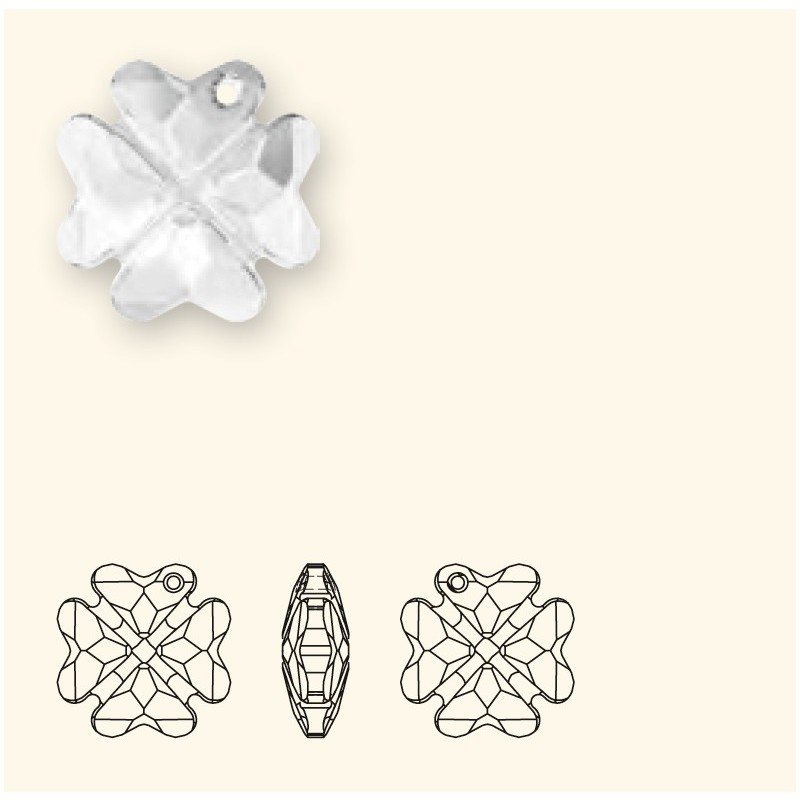 19MM Crystal AB (001 AB) Pendants Clover 6764 SWAROVSKI ELEMENTS