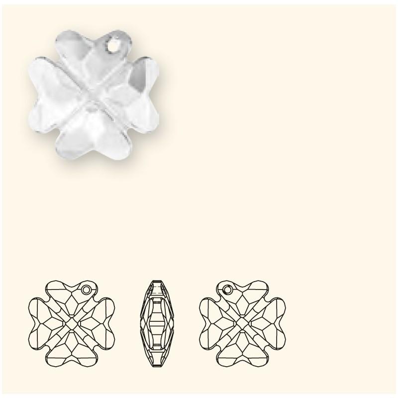 19MM Peridot (214) Pendants Clover 6764 SWAROVSKI ELEMENTS